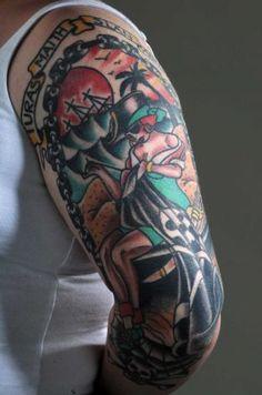 Tattoo: Safe Journey, Safe Return.