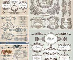 Download This:  Retro floral ornaments vector