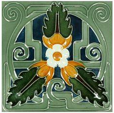 Continental Art Nouveau Tile