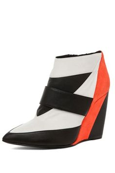 Pierre Hardy Colorblock Wedge in Trico, $1,375, available at Forward by Elyse Walker.