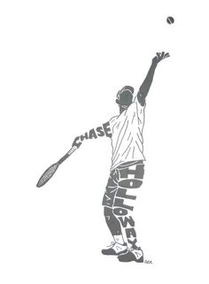 Male Tennis Player Name Silhouette