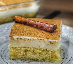 Greek Desserts, Cold Desserts, Greek Recipes, Delicious Desserts, Arabic Food, Vanilla Cake, Tiramisu, Cheesecake, Appetizers