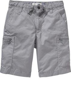 Boys Twill Utility Shorts