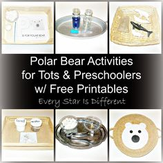 Montessori-inspired polar bear themed learning activities for tots and preschoolers with free printables.