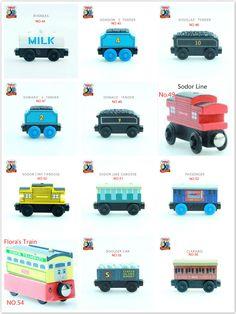 토마스와 친구들-NO.28-57 나무 자석 기차 모델 크리스마스 장난감 선물 부드러운 Mavis 디젤 애니 Clarabel