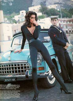 'Bain Urbain' from Vogue Paris February 1990 feat Yasmeen Ghauri