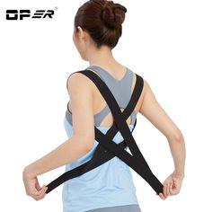 f14f4a1d70 OPER Shoulder Back Belt Back Support Waist Brace Adjustable Posture  Corrector Pain Relief Orthopedic Lumbar Men
