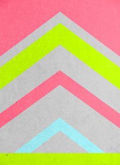 Abstract Neon Art Print - Stacia Elizabeth - Society 6