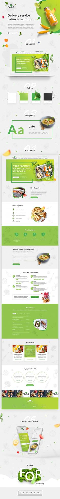 Web site for Healthy food delivery service. on Behance a grouped images pic - Food Delivery Service - Ideas of Food Delivery Service - Web site for Healthy food delivery service. on Behance a grouped images picture Pin Them All Food Web Design, Food Graphic Design, Design Logo, Design Poster, Web Design Trends, Healthy Food Delivery, Delivery Food, Design Presentation, Food Website