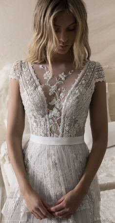 Wedding Dresses by Lihi Hod Fall 2018 Couture Bridal Collection - Danielle . - Wedding Dresses by Lihi Hod Fall 2018 Couture Bridal Collection – Danielle … – - Mod Wedding, Lace Wedding, Dress Wedding, Bohemian Wedding Gowns, Wedding Mandap, Bohemian Dresses, Wedding Receptions, Trendy Wedding, Mermaid Wedding