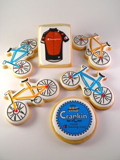 Inkedibles edible logo/image cookies created to support BIKE MS. All images were pre-printed and generously donated by Inkedibles!