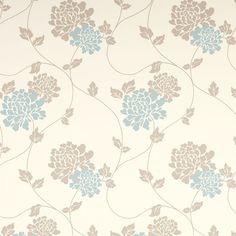 papel de pared estampado isodore azul verdoso trufa