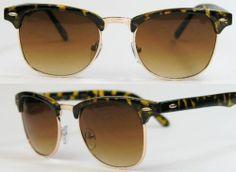 Retro Clubmaster Sonnenbrille Leo Leopard Wayfarer Old School Vintage gold iPg0bmf