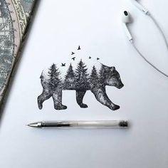 Resultado de imagem para geometric bear tattoo