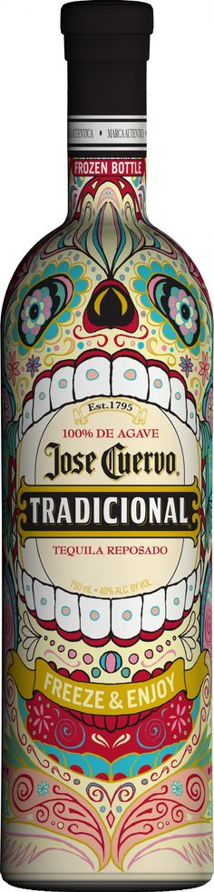 Jose Cuervo halloween bottle