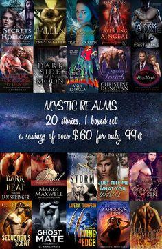 20 Romances by NYT, USA Today & International Bestselling Authors for 99¢ – a $60 savings #MysticRealms #Paranormal #UrbanFantasy #Romance #$60Savings