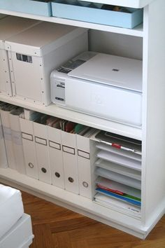 I have that printer. Now all I need is the shelves and boxes. #organization #Office