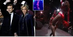 New French President celebrates his election victory with Raunchy Dancers (Photos)