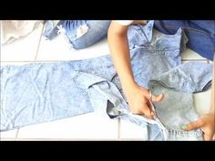 Fashion DIY How to make Mens Denim Long sleeve shirt into a Long Sleeve Dress