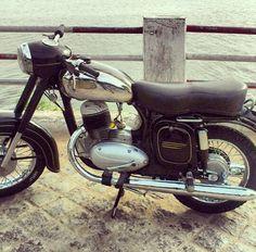 Jawa Super 4, Mechanical Engineering, Vintage Motorcycles, Scrambler, Biking, South Africa, Cherry, Ideas, Nostalgia