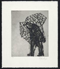 William Kentridge. Caged Man from Zeno at 4 A.M. 2001