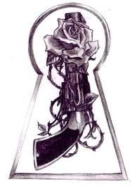 just the gun and rose...and turned upside down. oh yeahhh.