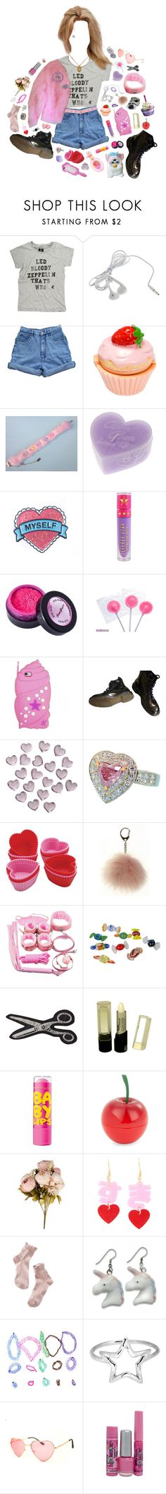 """""""I think I lost my head"""" by queenofrocknroll ❤ liked on Polyvore featuring Bill Blass, Jeffree Star, Stargazer, Dr. Martens, Crate and Barrel, Olympia Le-Tan, Maybelline, Tony Moly, Moschino and 1937"""
