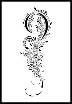 """I made this design for 's upper arm swirls that are hard to ink on are optional and can be left out. ^^"""" small curls (not swirls) can be replaced by skindiversTM"""