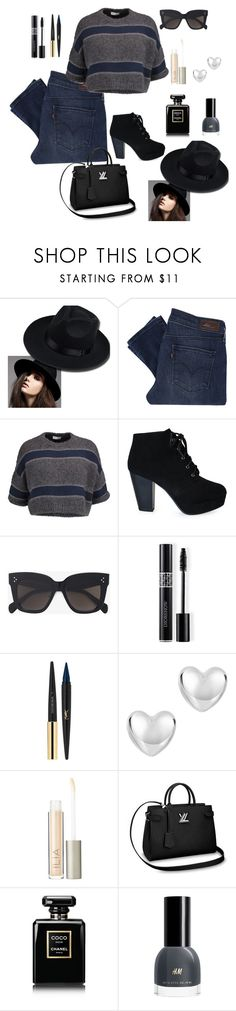 """Untitled #551"" by notjustarandomgirl10 on Polyvore featuring Levi's, Brunello Cucinelli, CÉLINE, Christian Dior, Yves Saint Laurent, Ilia and Chanel"