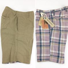 NEW Tailor Vintage Men/'s Casual Plaid Shorts Pink Blue Size 30 32 34 36 Summer