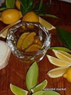 Lime Pickles--seasoned and oil packed  SPLENDID MARKET: Edith Afif's Lime Pickles