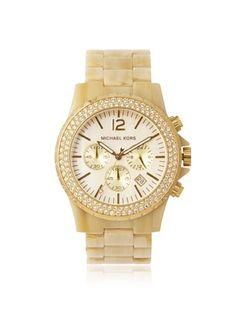 Michael Kors Women's MK5558 Madison Chronograph Horn Watch