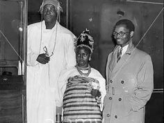 R-L,Oba Erediauwa as a young Prince, his wife and Father,   Oba Akenzua II (1) Following the announcement of the transition to glory of the Oba of Benin, Oba Erediauwa, Adibe Emenyonu, in Benin Cit…