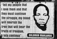#SolomonMahlangu apartheid struggle icon 👊🏾