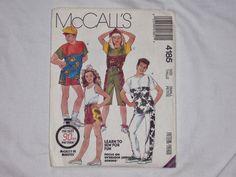 McCalls 4185 Boys or Girls Tops Pants and by windingwoolcreek (Craft Supplies & Tools, Patterns & Tutorials, commercial, girls, vintage, boys, shorts, pants, shirt)