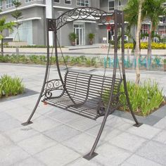 Iron Furniture, Outdoor Garden Furniture, Steel Furniture, Outdoor Decor, House Gate Design, Main Door Design, Swing Design, Fire Pit Designs, Steel House