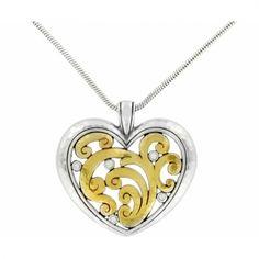 Mantilla Heart Necklace  available at #Brighton