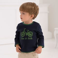 Long Sleeve Cotton T-shirt | Dave Bella Kids Clothes