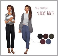 Sims 4 CC's - The Best: Slouchy Pants for Females by DaniParadise