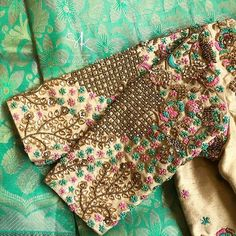 #sruthikannath #southindianbride #indianbridal #floral #bridal #pearlsandstones #sequins #annaparavai #florallove #zari #zardosiembroidery…