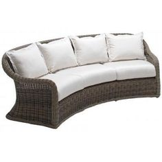 Gloster Havana Deep Seating Curved 3-Seat Sofa