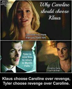 why Caroline should choose Klaus #TVD Season 5