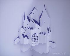 Kirigami Pop Up card Castle