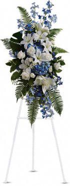 Ocean Breeze Funeral Spray. www.flowersonly.com #funeralflower-funeral-flowers