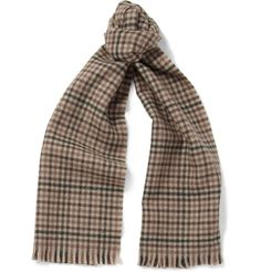 Saint Laurent - Check Wool Scarf | MR PORTER