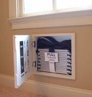 Fire Escape Ladder : built in between the studs of every room second level or higher room.