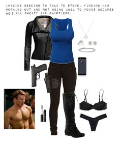 """""""Imagine"""" by gone-girl ❤ liked on Polyvore featuring Danier, Argento Vivo, Tiffany & Co., Nine West, Victoria's Secret PINK, Victoria's Secret, NARS Cosmetics, Blue Nile, imagine and marvel"""