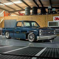 Mid '80's Chevy pickup, @kcspaintshop supercharged LS7 C10...