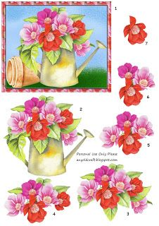 3D Decoupage and matching papers freebie