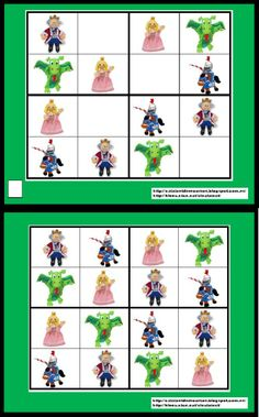 Sudoku Sant Jordi | Scribd Paper Toys, Teaching English, Middle Ages, Kids And Parenting, Fairy Tales, Medieval, Kindergarten, 1, Activities